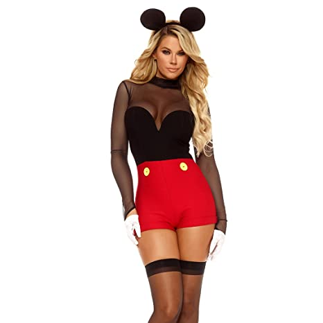 ForPlay De la Mujer Mickey Mouse Pelele Disfraz