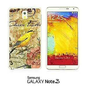 OnlineBestDigital - Art Paintings Hardback Case for Samsung Galaxy Note 3 N9000 - Vintage Painting Birds and Flowers
