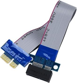 Non-brand PCI-E 1X Slot Riser Card Extender Extension Ribbon Flex Relocate Cables