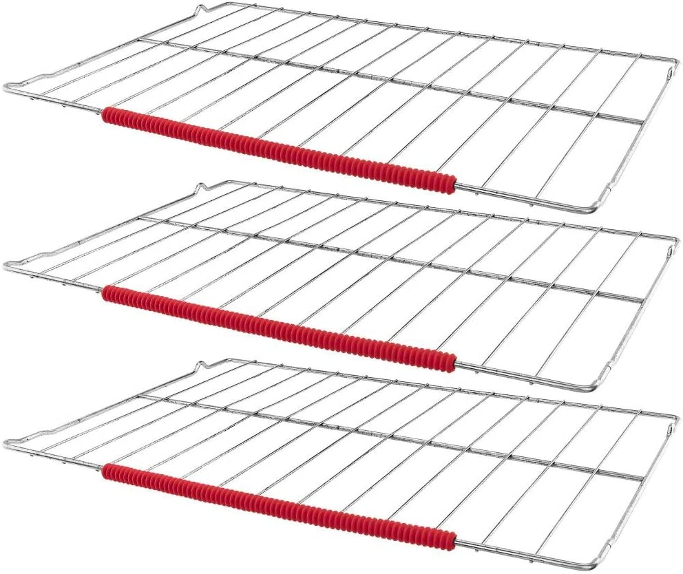 Red Southern Homewares Set of 3 Oven Rack Protectors One Size