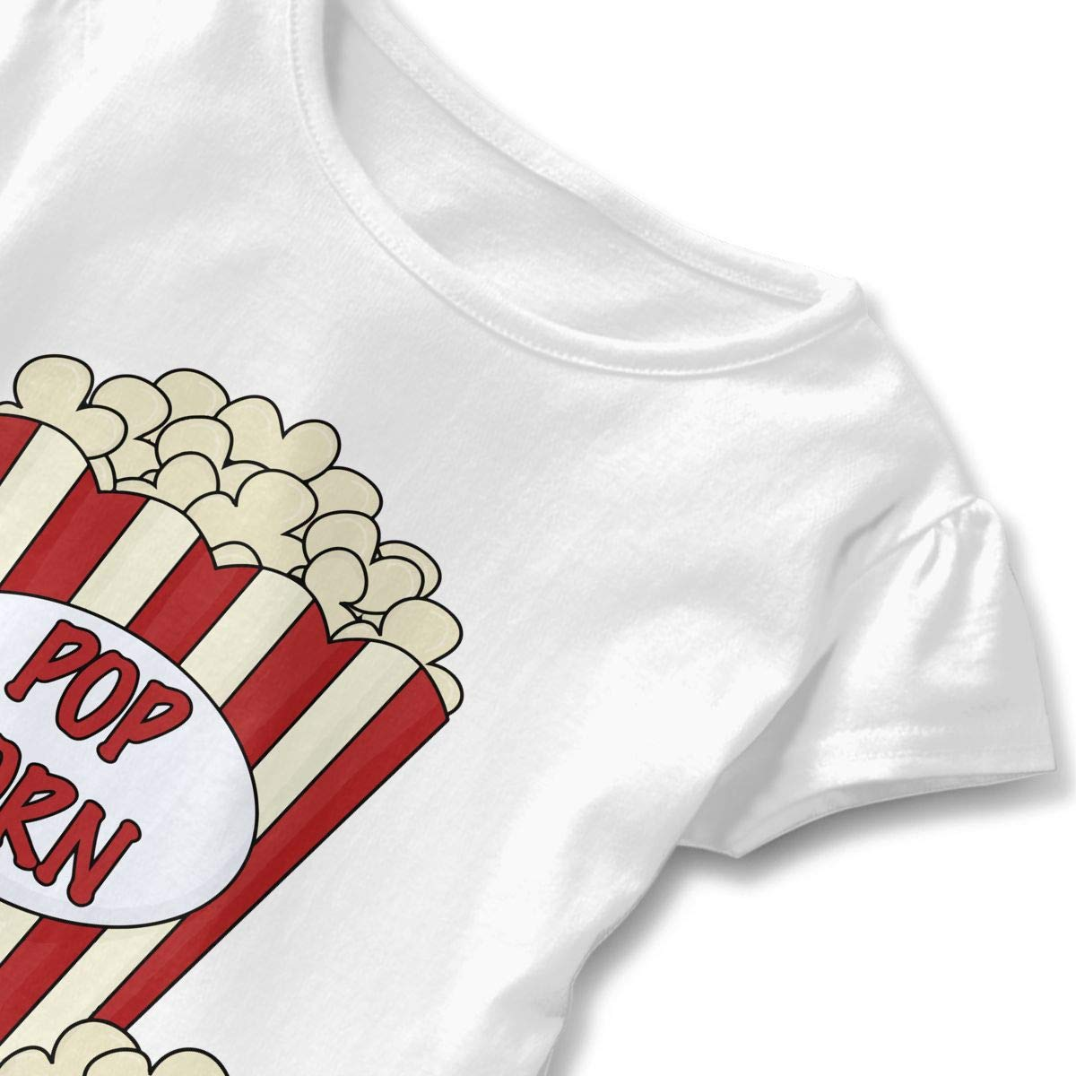 HYBDX9T Little Girls Popcorn Clipart Funny Short Sleeve Cotton T Shirts Basic Tops Tee Clothes