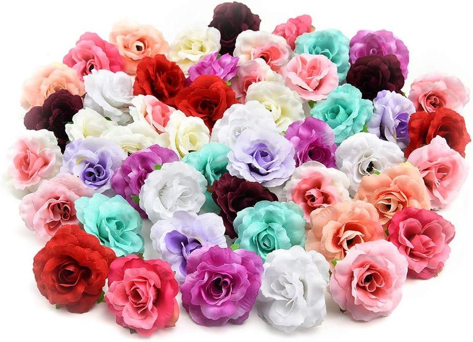 10Pcs Rose Artificial Heads Flower Silk Bulk Wedding Party Fake Bouquet Decor