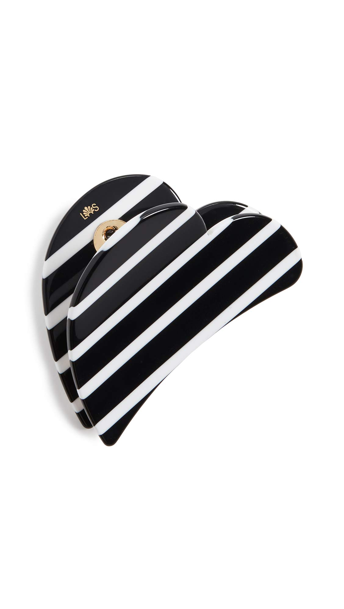 Lele Sadoughi Women's Butterfly Clip, Black and White, One Size