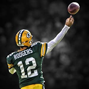 Aaron Rodgers Green Bay Packers Poster Print, ArtWork, American Football Player, Canvas Art, Aaron Rodgers Decor, Real Player, Posters for Wall SIZE 24''x32'' (61x81 cm)