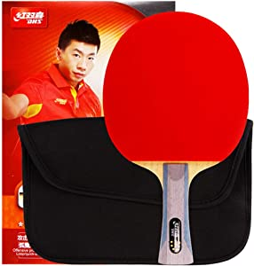 DHS Ping Pong RacketTable TennisPaddle6002 with Case Offensive 5-Ply Wood Shakehand