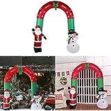 XSWE 2.4 M Lindo Muñeco De Nieve Inflable Gigante De Santa Claus Arcos De Navidad Decoración