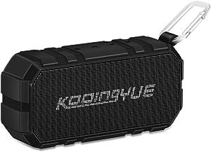 KOOINGYUE Enhanced Bass Stereo Version IPX56 Splash Proof Portable Bluetooth Speaker With Volume Amplifier 10 W Power, 33' Wireless Range Bluetooth 4.0, Custom Bass Radiator/Black
