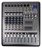 Rockville RPM870 8 Channel 6000w Powered Mixer w/USB, Effects, 8...