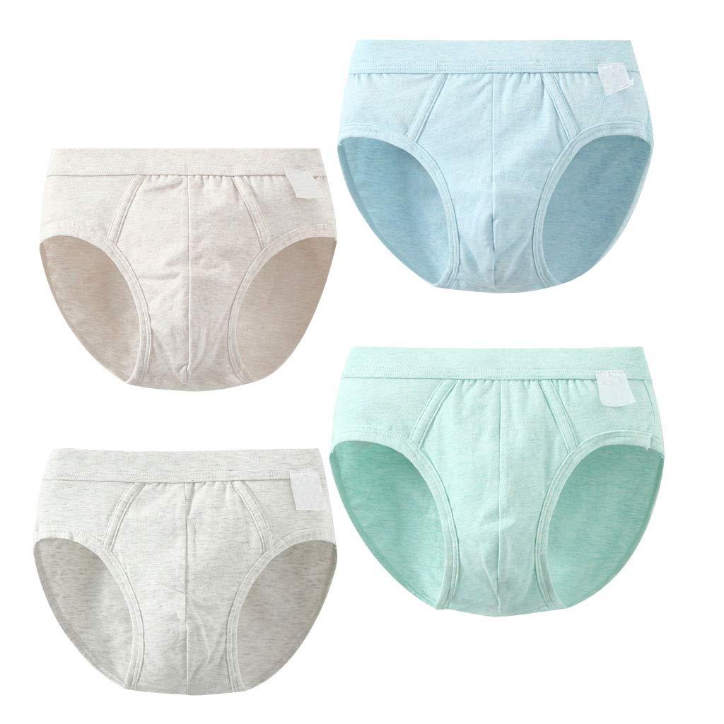 4 Pack Toddler Boys Boxer Briefs Underwear Basic Brief Shorts Soft Cotton Set
