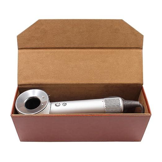 XIHAMA - Caja de almacenamiento de piel sintética para secador de pelo Dyson Supersonic, organizador de cajas duras con tapa y funda de viaje portátil para ...
