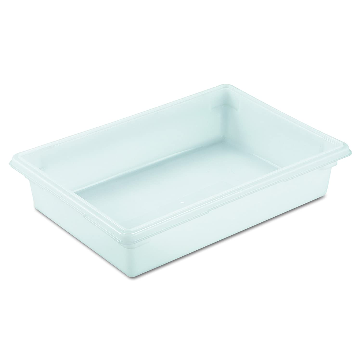 "Rubbermaid 3508 WHI 26"" Length x 18"" Width x 6"" Depth, 8-1/2 gallon White HDPE Food/Tote Box ( single piece)"