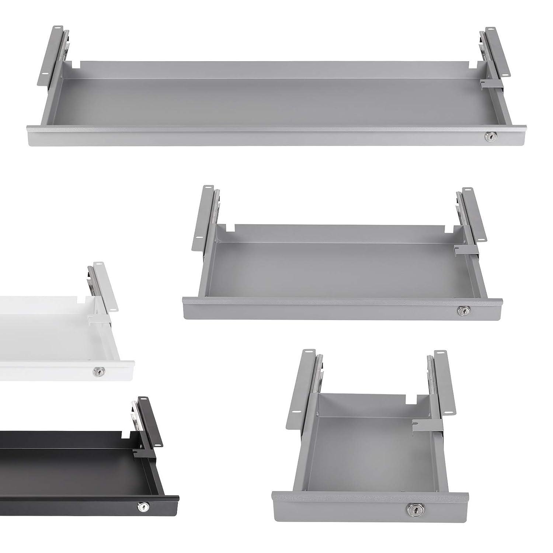 Cassetto sotto Scrivania Chiudibile 850 x 265 x 45 mm bianco Cassetto per Ufficio di SO-TECH/®