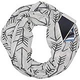 OldSch001 Unisex Zippered Secret Pocket Scarfs Warm Loop Scarf