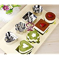 Mister Chef Stainless Steel DIY Small Mousse Ring Lamy Cheese Cake Mold Food Moulding Tools- Set of 4