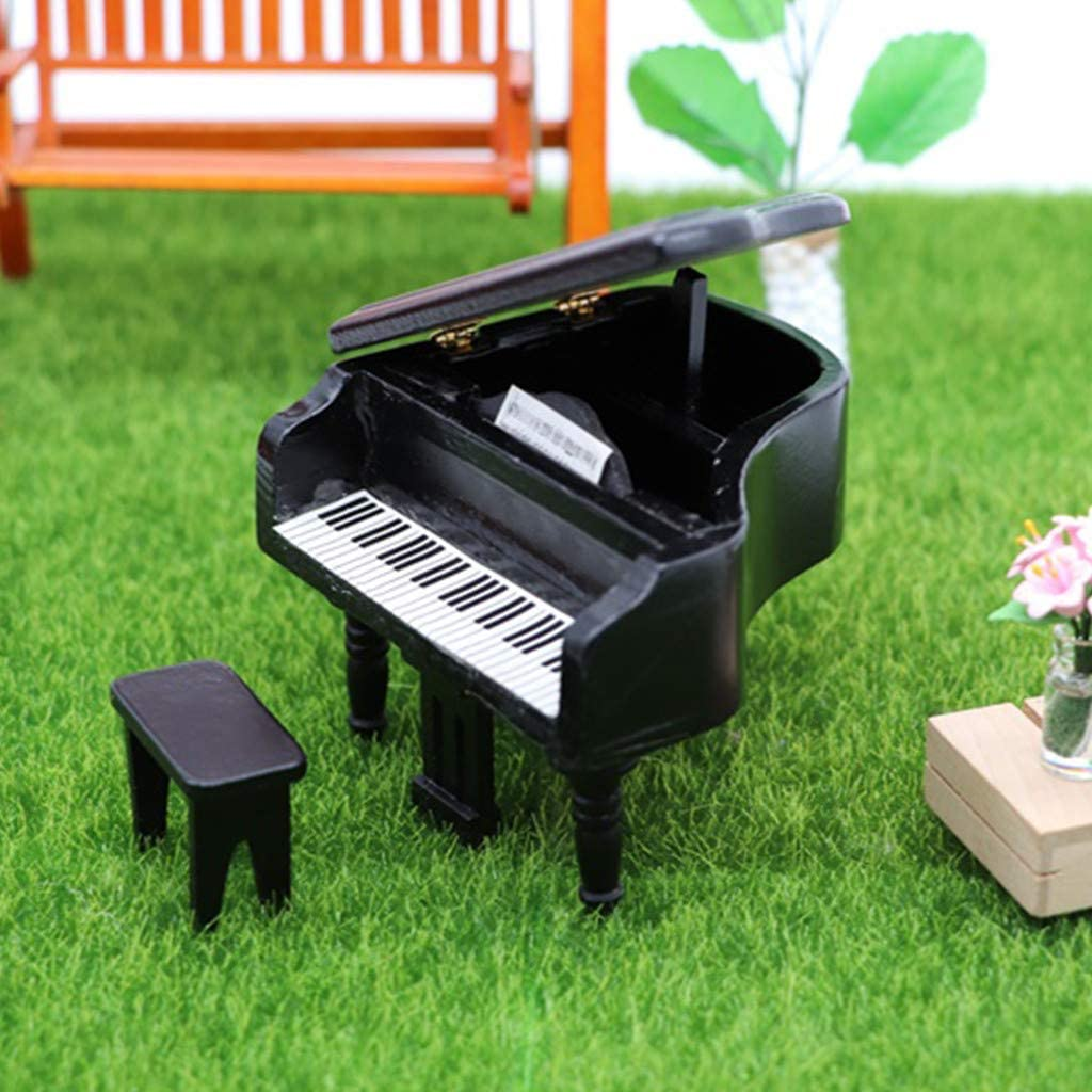 Furniture for Dolls GRAND PIANO Dollhouse Miniature Scale 1:12 Model Kit Set
