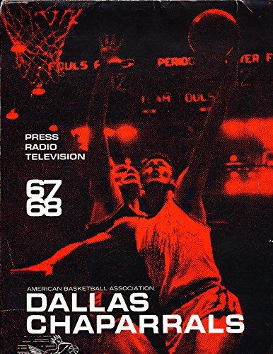1967 Dallas Chaparrals ABA Media Press Guide first