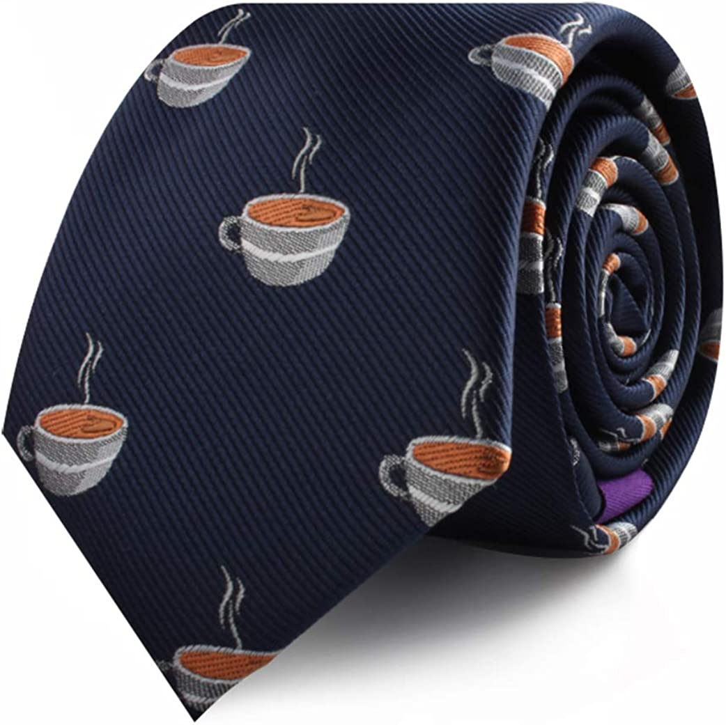 Food & Drink Ties | Speciality Ties for Men | Woven Skinny Neckties | Present for Work Colleague | Bday Gift for Guys
