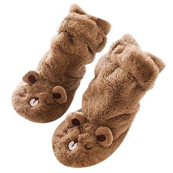 ZHRUI Calzado Antideslizante para niños pequeños Botas Calcetines para niños, niñas bebés niños Calcetines de