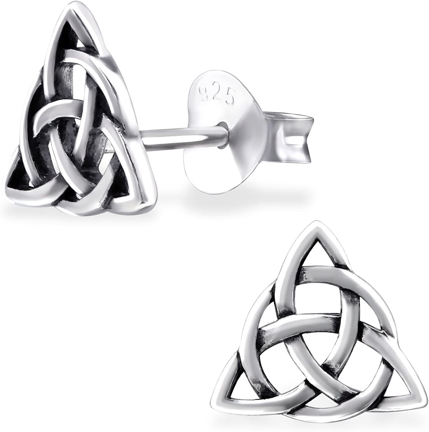 Love Knot Sterling Silver 925 Studs Earrings Carded