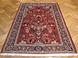 4x7 ft AUTHENTIC PERSIAN KASHAN RUG VASE PRAYER