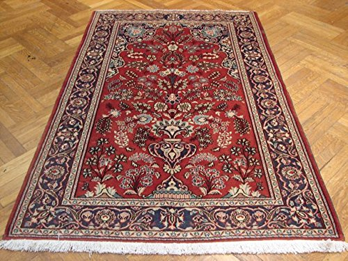 Persian Wool Vase - Harooni 4x7 ft Authentic Persian KASHAN Rug VASE Prayer