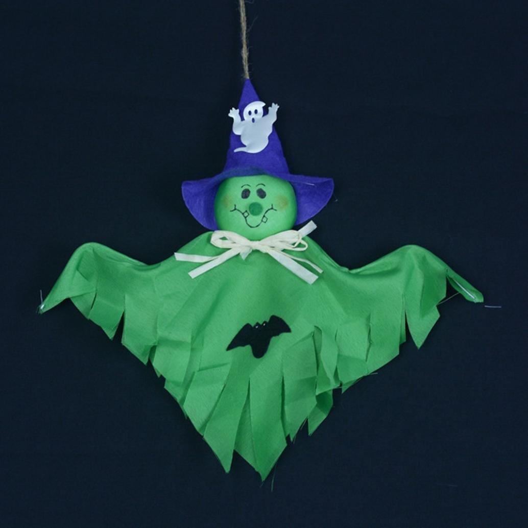Single Ghost Pendant,VIASA Cute Ghost Halloween Decoration Kids Toys 2 Pcs (Green) by VIASA_ (Image #2)