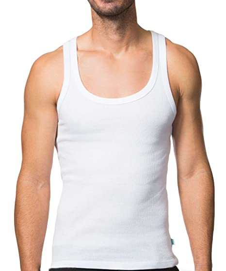 213428f65f018 Collected Threads Men s jT Tank Invisible Undershirts 3-Pack Medium White
