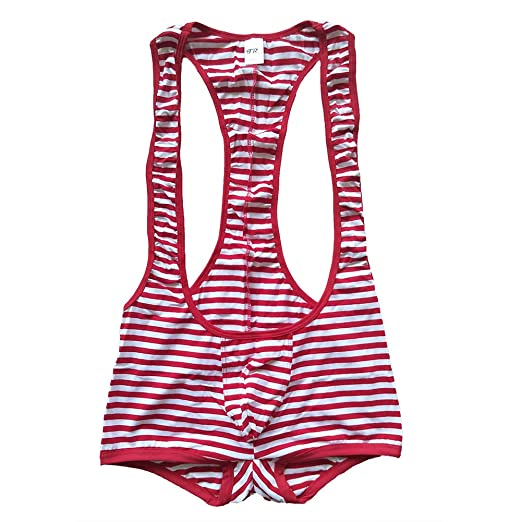 13378be1ccd1 Amazon.com: F plus R Men's Cotton Stripe Jockstrap Bodywear: Clothing