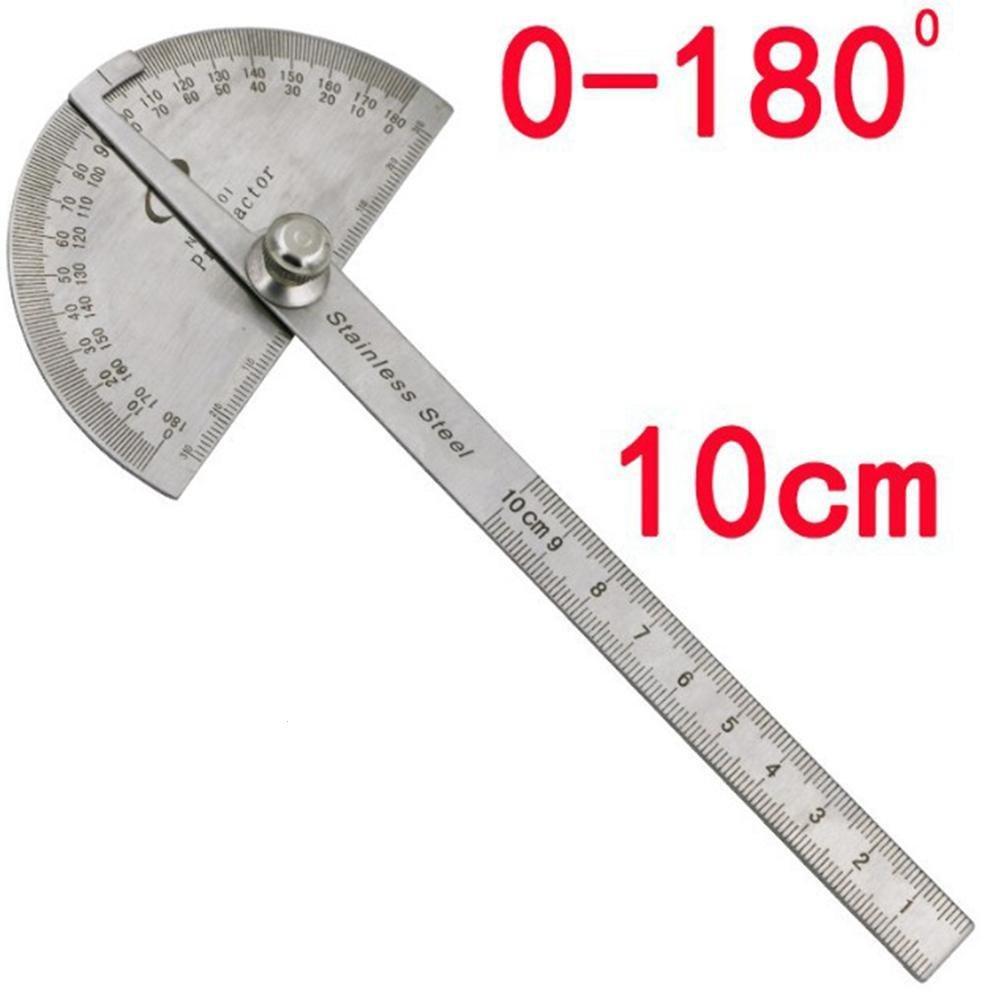 Mango King Winkel Lineal Winkelmesser Stahl Lineal mit 180 Grad Winkel quadratisch Holz 10 cm Winkelmesser Edelstahl Lineal Winkel quadratisch Index Gauge
