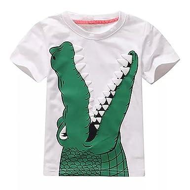 6e809c19b6076 Vêtements Fille Ete Oyedens Enfants Filles T-Shirts Fille 2 à 7 Ans Hauts  Manches