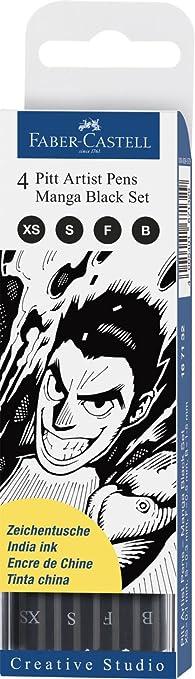 50 opinioni per Faber-Castell 167132 Pitt artist Manga Set Black- Set 4 colori