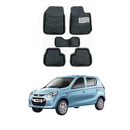 AYW 4D Car Mat for Maruti Suzuki Alto 800 Black Color