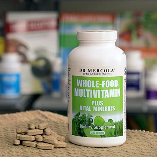 Amazon.com: Dr Mercola Whole Food Multivitamin PLUS Tablets   240 Per  Bottle   30 Day Supply   High Potency Antioxidant Formula   Vital Minerals    Supports ...