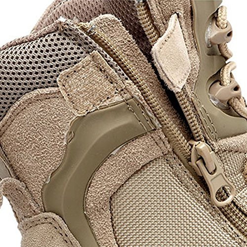 Esdy Leather Tactical Desert Combat Military Botas Hombres Us Army Zapatos Arena