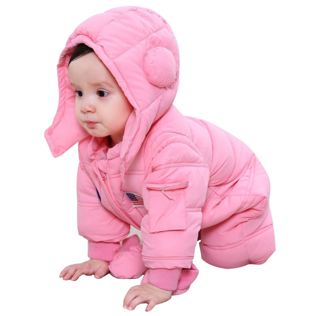 Baby Snowsuits Hooded Rompers, Winter Overalls Jumpsuits for Boys and Girls 3pcs Vine Trading Co. Ltd H171214PF007