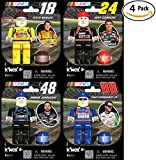 K'Nex NASCAR Four Driver Value Pack: #88 Dale Earnhardt Jr., #24 Jeff Gordon, #18 Kyle Bush, or #48 Jimmie Johnson. Great Christmas or Birthday Gift for a Racing Lover. Build Your Favorite Racer!