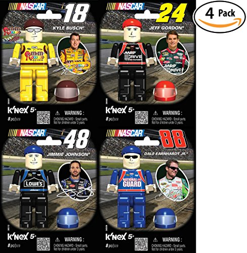K Nex Nascar Four Driver Value Pack   88 Dale Earnhardt Jr    24 Jeff Gordon   18 Kyle Bush  Or  48 Jimmie Johnson  Great Christmas Or Birthday Gift For A Racing Lover  Build Your Favorite Racer