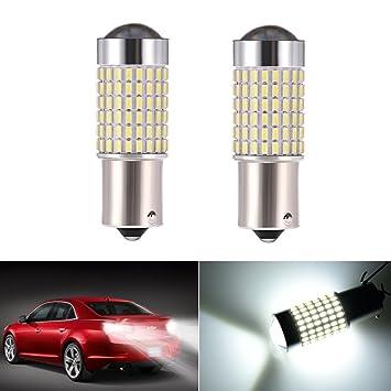 Maso 100W BA15S 382 P21W Cree XBD White LED Stop Reverse Parking Light Canbus Bulb Pack of 2 1156 Car Brake Lights