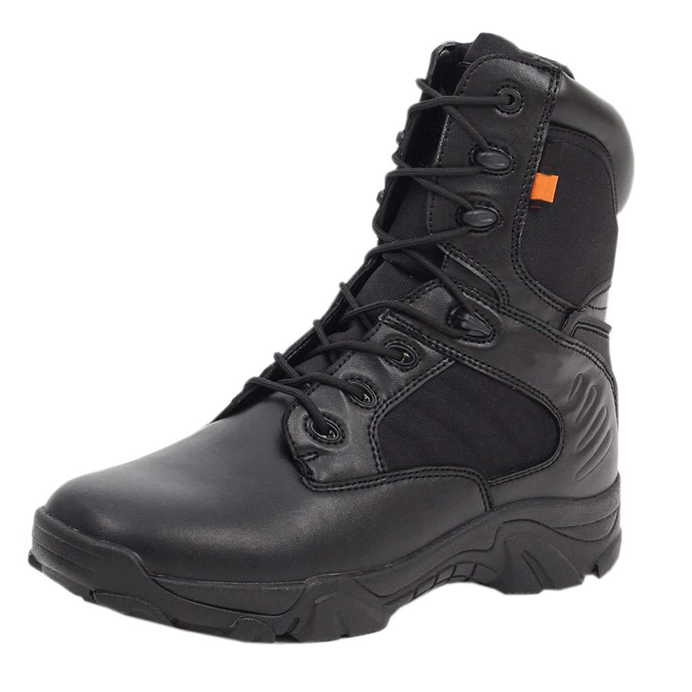 Uirend Zapatos Calzado Trabajo Botas Servicio Militar Hombre - Hombres Tactical Zipper Boots Ejé rcito Combate Patrulla Tá ctica Cadete Seguridad Militar Policí a Shzdbootjlxyjsf