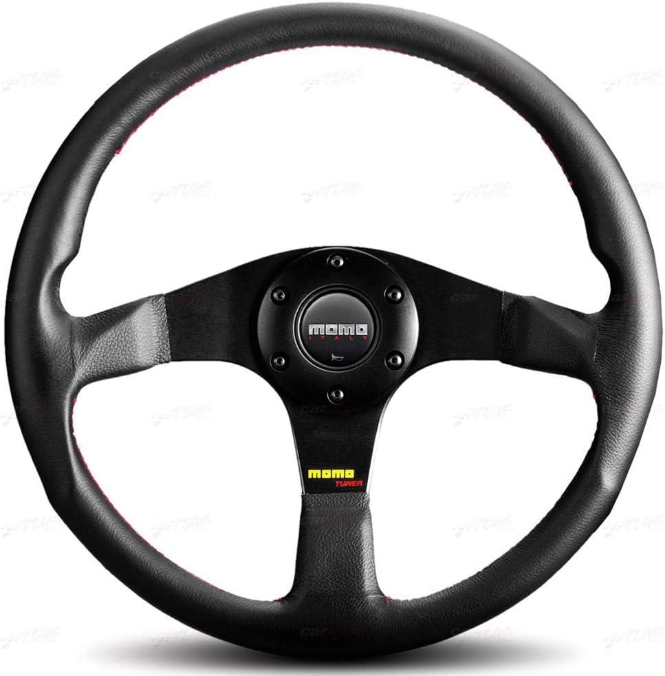 Tuner Leather 1 Pack Momo TUN32BK0B Steering Wheel