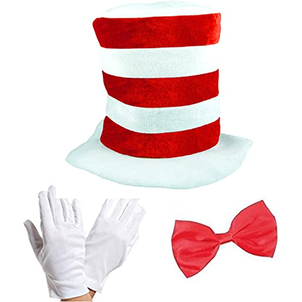 Hat Adults Cat Hat Fancy Dress Costume Face Paint /& Braces by Robelli Bow Tie Tail Gloves