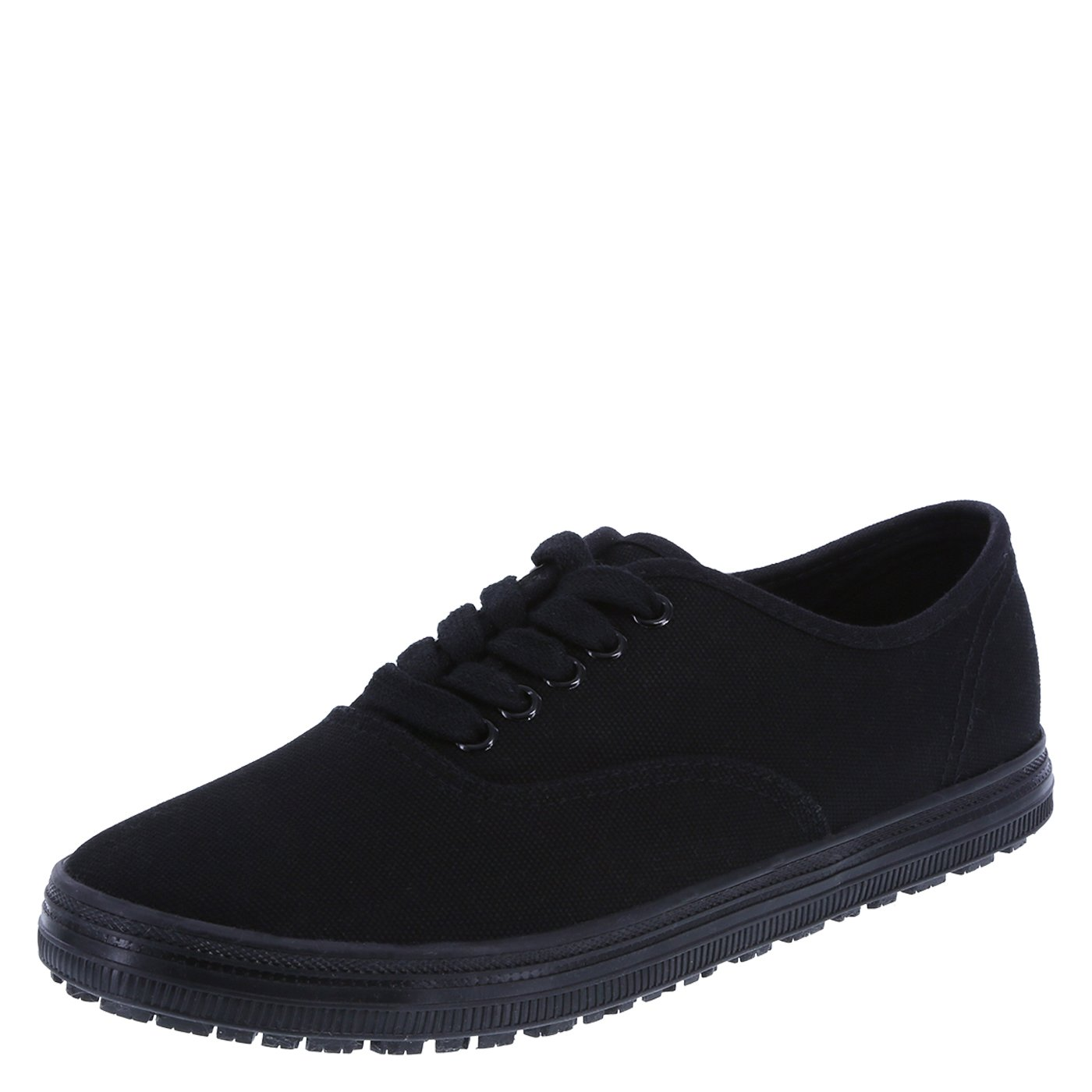 safeTstep Slip Resistant Women's Black Canvas Women's Kandice Canvas Oxford 7 Regular