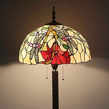 GAOLIQIN Lámparas de pie Estilo Tiffany 16 Pulgadas Sala de ...
