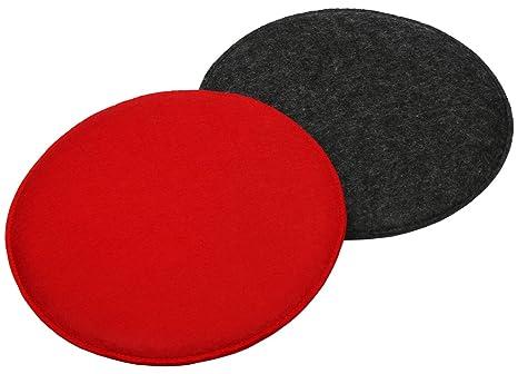com-four® 2X Juego de Cojines de Asiento tapizados, Cojines ...