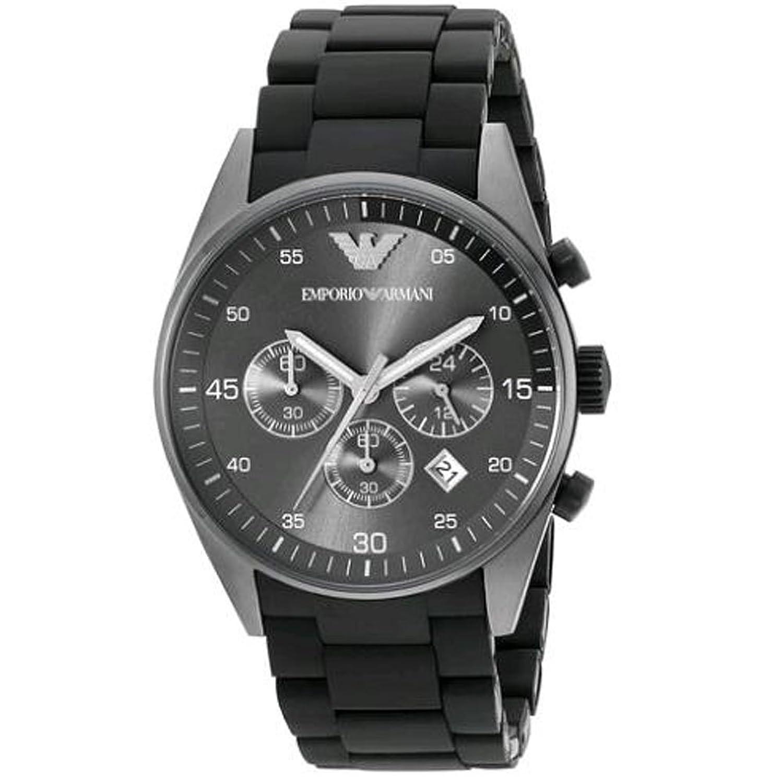 AR5889 Herren Armani Sportivo schwarz Chronograph Rubber Strap Uhr