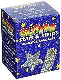 American White Cross GLIAST100 Designer Adhesive Bandages, Sterile, Glitter Stars and Stripes, Assorted, 100 per Box, 12 Box per Case (Pack of 1200)
