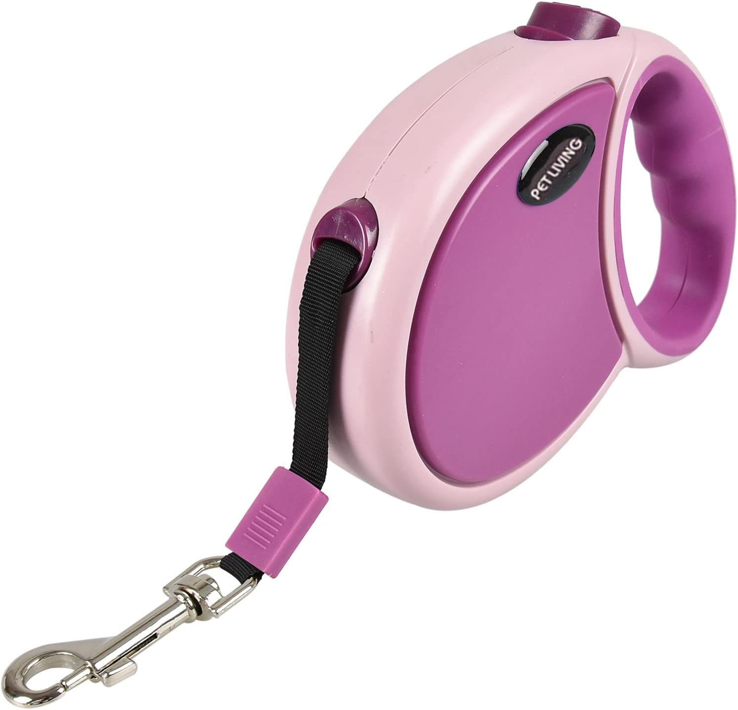 5 Meter Max 25 KG Dog, Pink Pet Dog Puppy Doggy Automatic Retractable Lead Nylon Tape Rope with Handle Grip Nylon Tape Dog Lead 3M 5M /& 7M