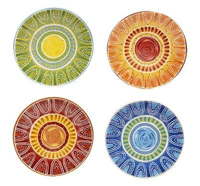 Certified International Tapas Dinner Plate, 11.25-Inch, Assorted Designs, Set of 4