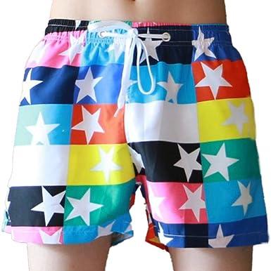 Amazon.com: Yutao Pantalones cortos de natación para hombre ...