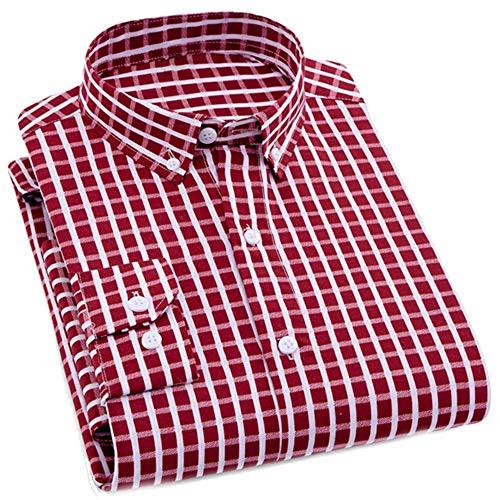 - ZFADDS Mens Business Casual Long Sleeved Shirt Men Shirt Classic Striped Male Social Dress Shirts Outwear 8101 Asian XXL Label 42